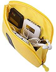 PACKNBUY Mobile Electronic Cable Pouch Travel Case Yellow
