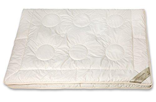 moebelfrank Bettdecke KBA Kamelhaar Ganzjahres-Decke BIO Baumwolle Natur Nadin, Größe:200x220 cm