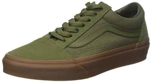 Vans Unisex Adults' Old Skool Suede Trainers, Green (Suede/Canvas/Winter Moss/Gum), 6.5 UK...