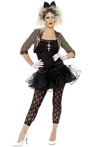 Smiffys 36233S 80er Jahre Wild Kind Kostüm Damen