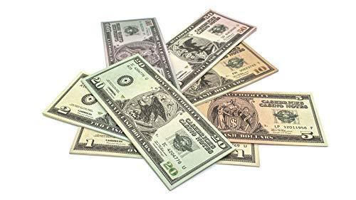 Cashbricks 7 x 10 Spielgeld Dollar Scheine (1$-100$) Set