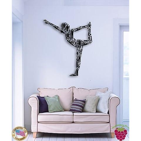 Adesivi da Parete Yoga Pose Cool Decor per palestra o salotto z1572i