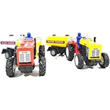 2 Combo Tractor with water Tanker toy kit (Red Yellow)