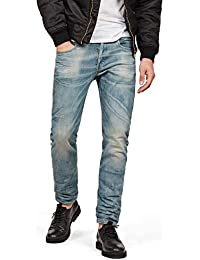 G-STAR RAW Jeans 3301 Slim Uomo, Blu (Medium Aged 7890-071), 33W/32L