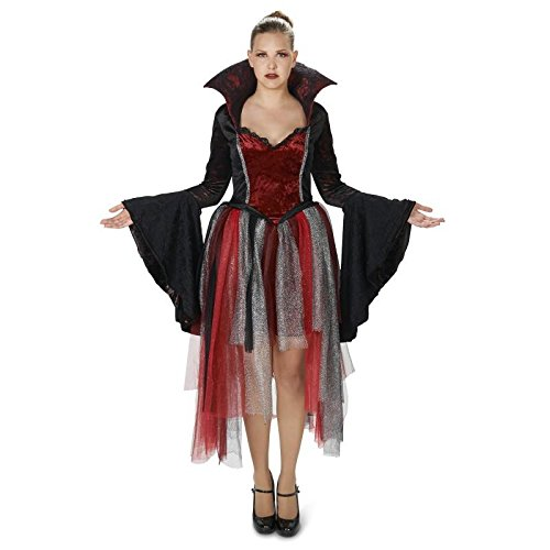 Queen of Hearts Vampire Damen Fasching Halloween Karneval Kostüm (Kostüme Queen Hearts Of Deluxe)