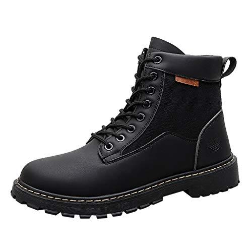 MISSQQUomo Stivali da Neve Invernali Scarpe Allineato Pelliccia Caloroso Caviglia Piatto Stivaletti Sportive Boots Escursionismo
