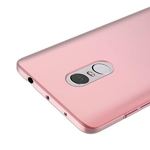 Oro rosa Ultra-delgado Funda Case Cover y Protector de Pantalla Para Xiaomi Redmi Note 4 Vooway® MS70205