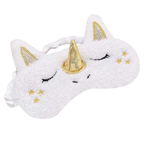 Bolange Unicorn Eye Mask Festival Dress Up Eye Mask, Ropa De Moda 17.7 * 9.5Cm Travel Party Holiday Decoration - Golden Horn