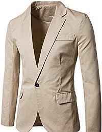 Adelina Blazer Giacche da Uomo Slim Fit Giacche Abbigliamento da per  Completo Il Tempo Libero Giacche Capispalla Uomo Casual da… 60823437de2