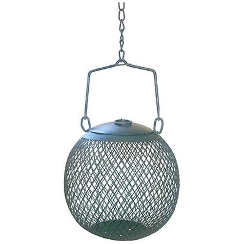 Perky-Pet Wildvogel-Futterspenderkugel aus Metall / Kleine Dekorative Futterstation für den Garten / Füllmenge 0,5 kg / Grün / Mod. GSB00344