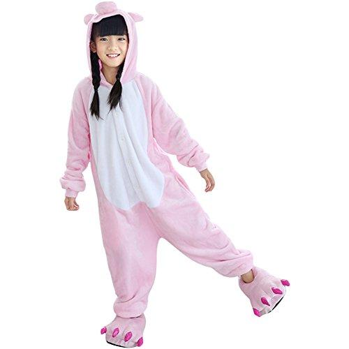 PADGENE Pyjama Combinaison Animaux Cosplay Costumes Halloween Enfant Unisexe (Cochon, Taille 125)