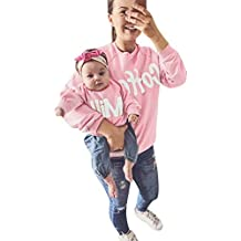 Venta caliente !Ropa para niños, FeiXiang♈Mamá y yo bebé niño niña 2018 primavera último desgaste padre e hijo camisa de manga larga suéter familia ropa