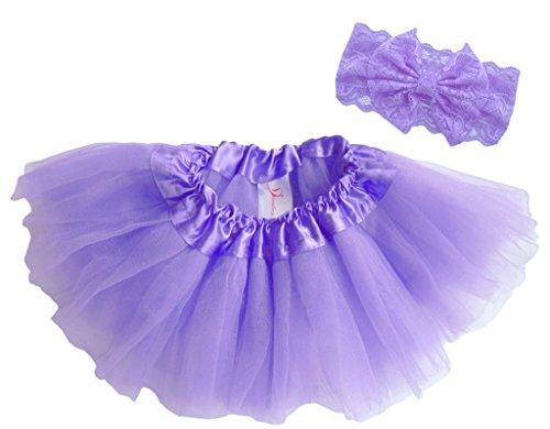 Dancina Baby Tüllrock Tutu Classic Set m. passendem Haarband Lavendel Classic 6-23 (Tutu Billig Röcke)