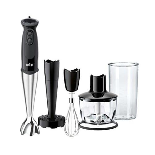 411v2Bx 8YL. SS500  - Braun MultiQuick 5 MQ5237BK Hand Blender, Mixer, BPA-Free Plastic Beaker, Dishwasher Safe Wand, Splash Control - Black