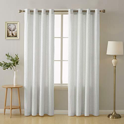 Deconovo tende finestre soggiorno per camera da letto cameretta bambini moderne con occhielli 140x290cm bianco 2 pannelli