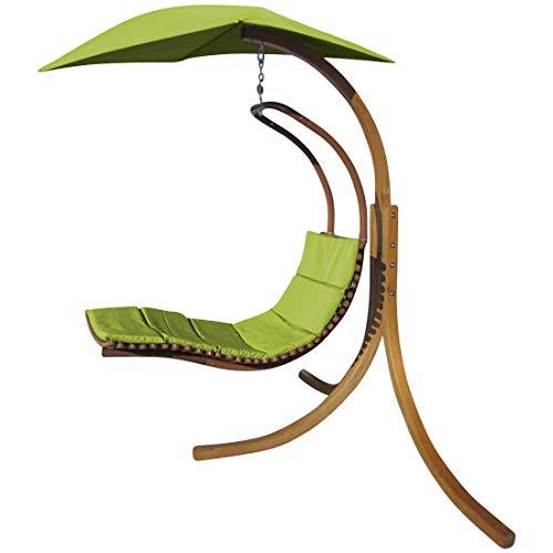 DESIGN Hängeliege NAVASSA mit Gestell aus Holz Lärche - Hängeliege und Dach von AS-S