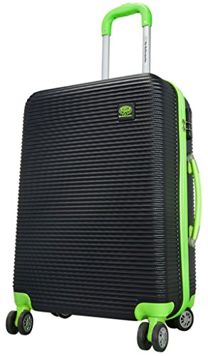 Koffer Santorin schwarz grün Größe L Carbon / Polycarbonat ABS Hartschale Reisekoffer Trolley Case Fa. Bowatex
