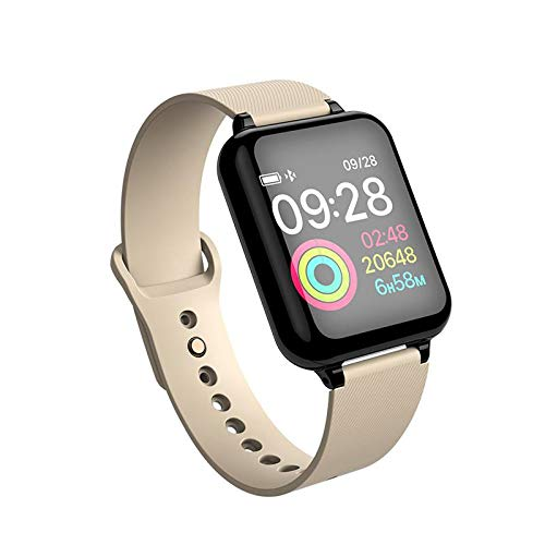 Teepao B57 Herren Smart Watch IP67 Wasserdicht Smartwatch Herzfrequenzmesser Multisportmodell Fitness Tracker Frauen tragbare Geräte Gold