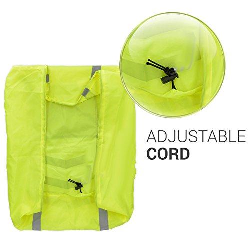 kwmobile Regenschutz Set für Helm Rucksack – Helmüberzug Regenhülle Schulranzen Helmschutz – Schutzhülle Fahrradhelm Ranzen – unisex - 6