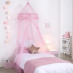 Ciel de Lit Fille Princesse Rose avec étoiles
