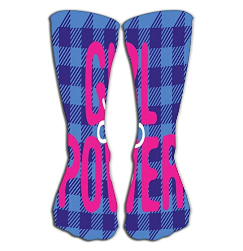 Jxrodekz Compression Socks Poster Girl Power Abbreviation Tartan Background Sticker Patch pin Print Poster Girl Power -