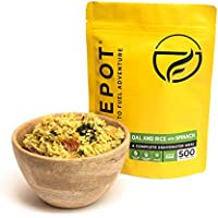 FIREPOT Dal and Rice with Spinach (Extra Large) - Healthy VEGAN Dehydrated Expedition Food