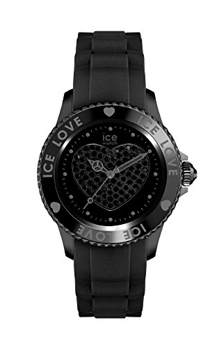 Ice-Watch – ICE love 2010 Black – Women's wristwatch with silicon strap – 013735 (Medium)