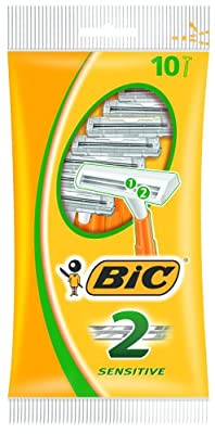 BIC 2 Sensitive Twin Blade Pack of 10 Razors