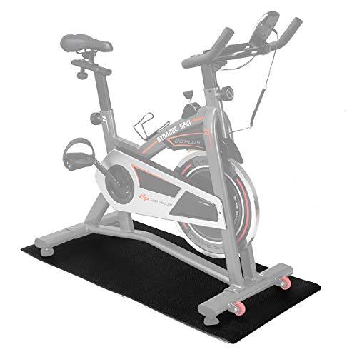 COSTWAY Bodenschutzmatte Fitnessgerät, Bodenmatte schwarz, Unterlegmatte für Bodenschutz, Multifunktionsmatte Rutschfest, Schutzmatte Größewahl (1200x600x6mm)