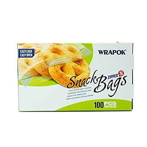 WRAPOK Zip Lock Snack Bags Small Food Storage Bags Reclosable Snack Zipper 100 Count BPA free …