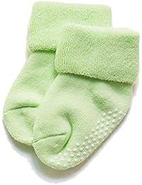 ACORRA Baby Grips Calcetines, Antideslizantes Calcetines Flexibles y Suaves para el Suelo Calcetines de Algodón