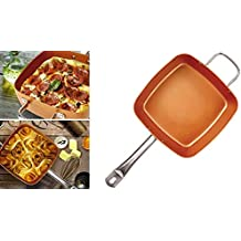 ICA-HOME – Sartén Cuadrada Antiadherente. Set 2 piezas sarten y tapa para Cocinas