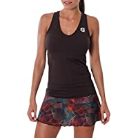 a40grados Sport & Style Cielo Camiseta sin Mangas de Tenis, Mujer, Marrón Chocolate, 36
