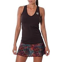 a40grados Sport & Style Cielo Camiseta sin Mangas de Tenis, Mujer, marrón Chocolate,