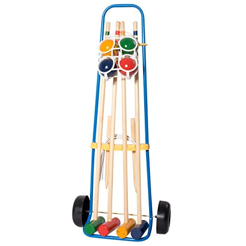 Preisvergleich Produktbild HUDORA 78100 - Krocket Set 4 Spieler