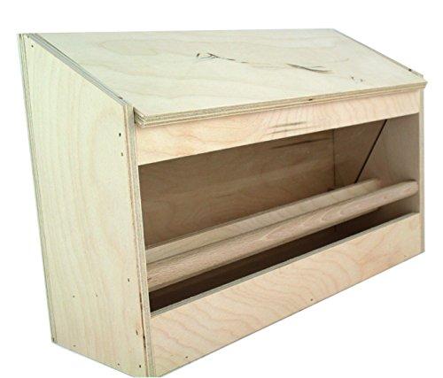 Elmato 10622Mangiatoia Voliere Automat legno grande