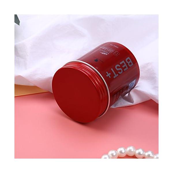 3 tipos de 100 ml profesional de larga duración de pelo mullido acabado cera herramientas de diseño para hombres(Blanco)