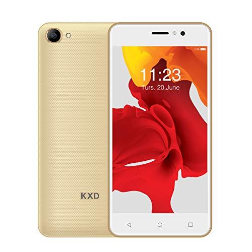 Ken Xin DA W50 2019 Popularität Smartphone 3G 5.0 Zoll Handy SIM frei Dual-SIM-Karte Android 6.0 MTK 6580 5MP+5MP Kamera 1GB RAM+8GB ROM(Unterstützt bis zu 128 GB) 2100mAh Entriegelt (Gold)