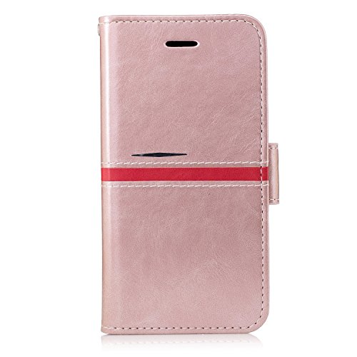Price comparison product image iPhone 8 Leather Case, iPhone 7 Wallet Case, BONROY Senior Retro Elegant Series PU Leather Flip Case Wallet Cover With Stand Function and Card Slots Protective Case Cover for iPhone 8 / iPhone 7