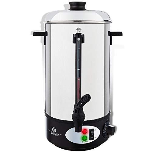 KESSER Glühweinkessel 20L Edelstahl Glühweinkocher Glühweinautomat Heißgetränkeautomat Wasserkocher
