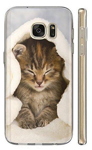 Samsung Galaxy A20e A202F Hülle Handyhülle Silikon Backcover Schutzhülle Soft Case Cover TPU mit Motiv 1003 Katze Katzen Baby Hülle für Samsung Galaxy A20e A202F
