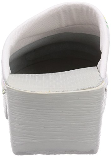 Gevavi - 3900 Bighorn  Flexible Clogs Mit Blumenmotiven 36, Zoccolo da donna bianco (Weiß  (weiss (bloem) 91))