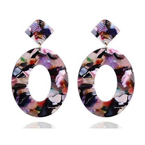 KBWL Orecchini Nuovi orecchini caldi di vendita Orecchini pendenti geometrici ovali pendenti in resina regaloCaffe