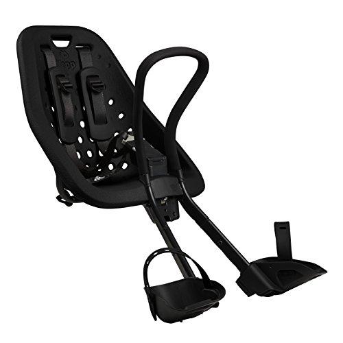 Yepp Baby Kids Mini Fahrradsitzkindersitz, schwarz, M, 8715362004413
