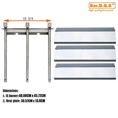 Bar.b.q.s Ersatzteile Toskana SG R30ml P, SG R30M Kit Grillbrenner Wärmeplatte (13033 1pack Edelstahl-Brenner + 93031 3pack Porzellan Stahl Wärmeplatte) wieder aufbauen