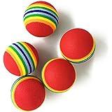 UEETEK 6 Pack Katzenspielzeug Ball hundespielzeug ball Regenbogen Colorful weich für Hund Welpen Kitty Zug und Play - 3,5 CM