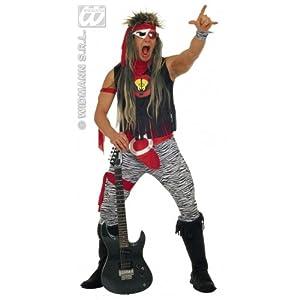 WIDMANN 37.872 personalizada chica rocker m top, falda, polainas,