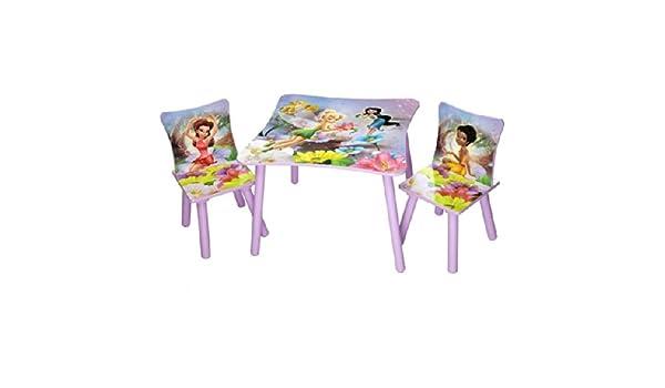 Disney Kindersitzgruppe Fairies Tisch 2 St/ühle Holz Sitzgruppe Maltisch Spieltisch Kinderm/öbel M/öbel NEU