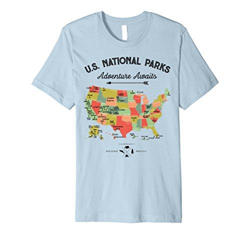 National Park Karte T Shirt–Alle 59National Parks Vintage