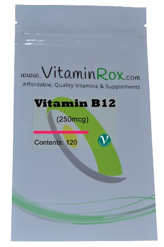 Vitamin B12 - 120 Tablet Resealable Foil Pack | High Strength 250mcg - Vitamin B-12 Tablet-vitamine
